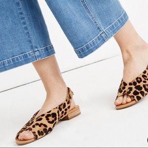 NWT Madewell Tavi Peep Toe Size 8.5